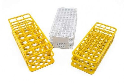 EL OMNICOLL puede utilizar toda clase de gradillas, para tubos de ensayo, viales de centelleo , vasos , botellas u otros recipientes