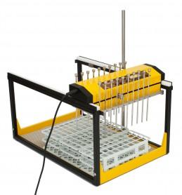 Muestreador, distribuidor, dispensador para la toma de 20 flujos o caudales 2x10 simultáneos