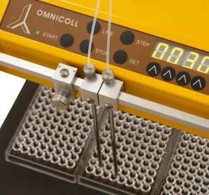 Utilización del colector de fracciones y muestreador OMNICOLL con placas de 96 pozos